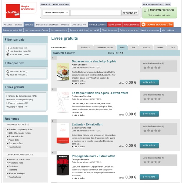 eBooks - Livres gratuits