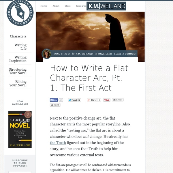 How to Write a Flat Character Arc, Pt. 1: The First Act | Pearltrees