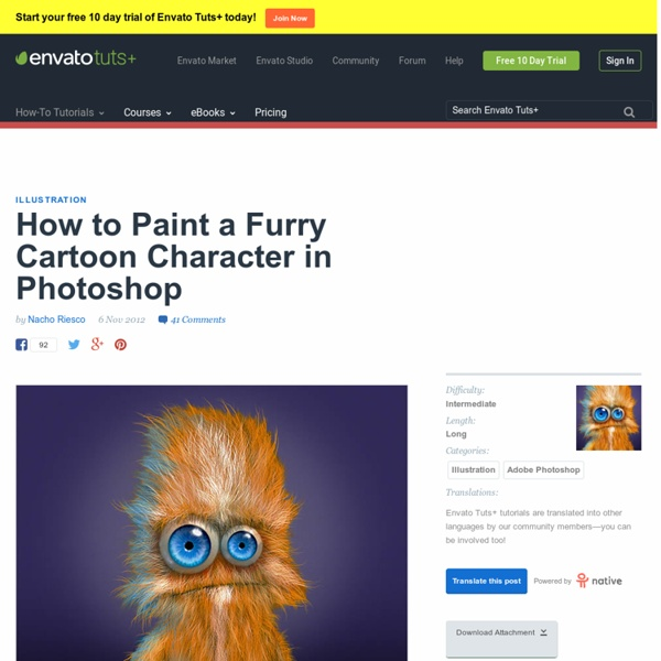 How to Paint a Furry Cartoon Character in Photoshop