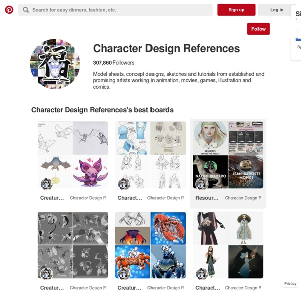 Character Design References on Pinterest