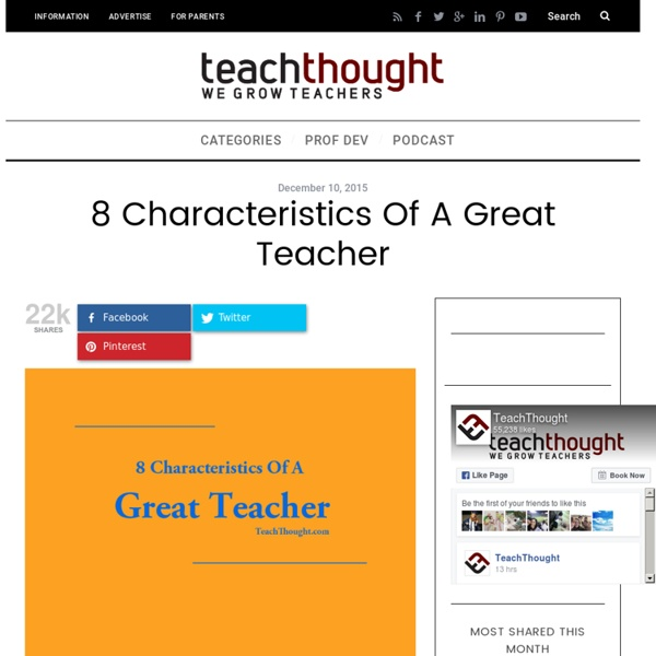 8 Characteristics Of A Great Teacher