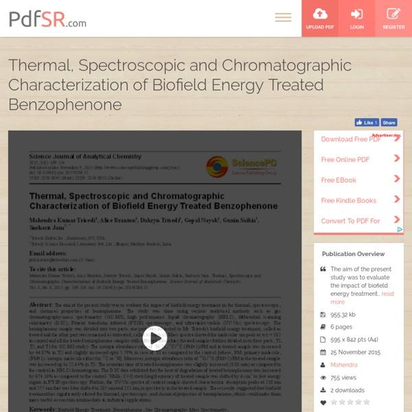 HPLC Chromatogram of Benzophenone
