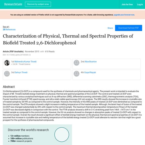 Characterization of 2, 6-Dichlorophenol