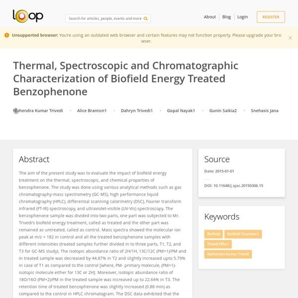 DSC Analysis of Benzophenone