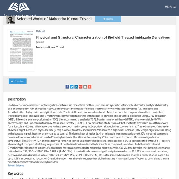 Assessment of Imidazole Properties