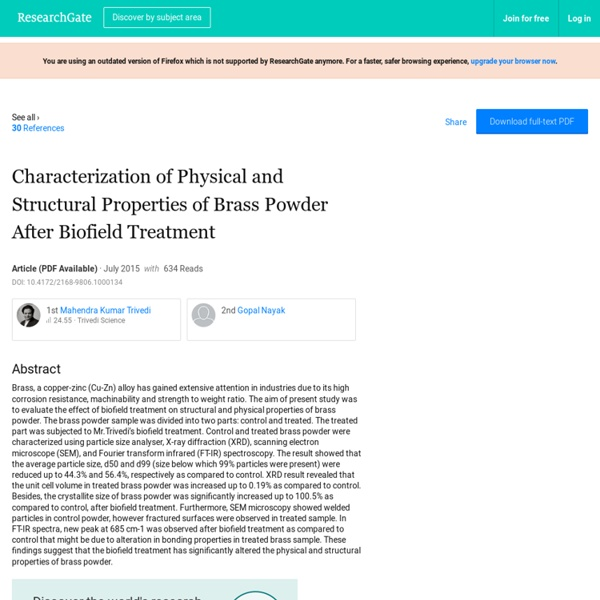 Human Energy Impact on Structural Properties of Brass Powder