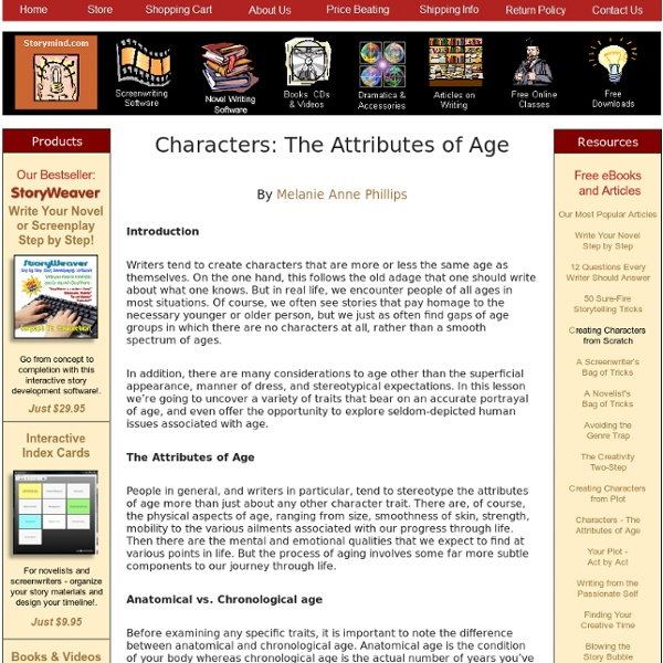 Characters - The Attributes of Age