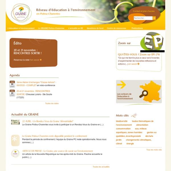 GRAINE Poitou-Charentes - Réseau d'éducation à l'environnement en Poitou-Charentes