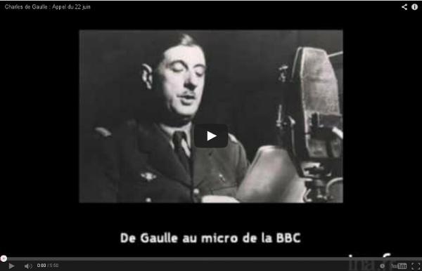 Charles de Gaulle : Appel du 22 juin