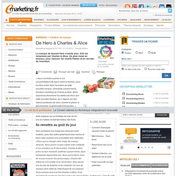 De Hero à Charles & Alice - Cas marketing - Transfert de nom