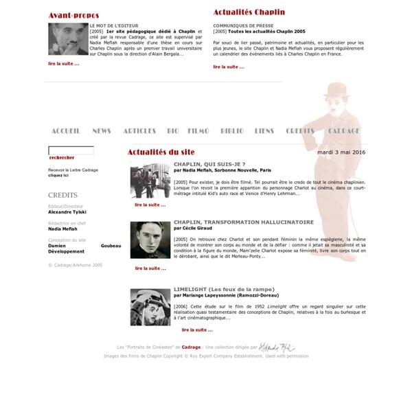 Charles Chaplin - 1er site pédagogique français dédié à Charles Chaplin