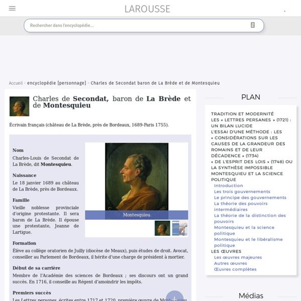 Charles de Secondat baron de La Brède et de Montesquieu