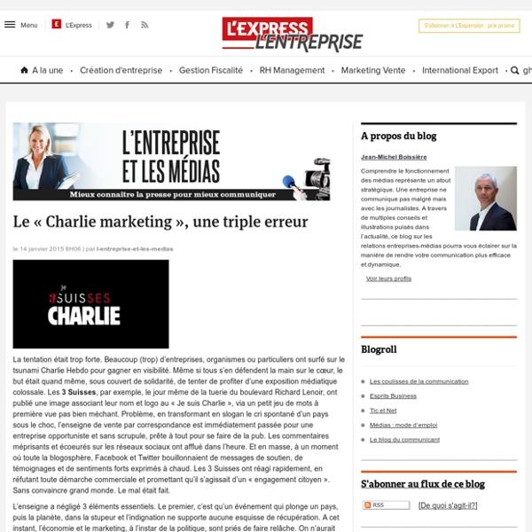 Le « Charlie marketing », une triple erreur