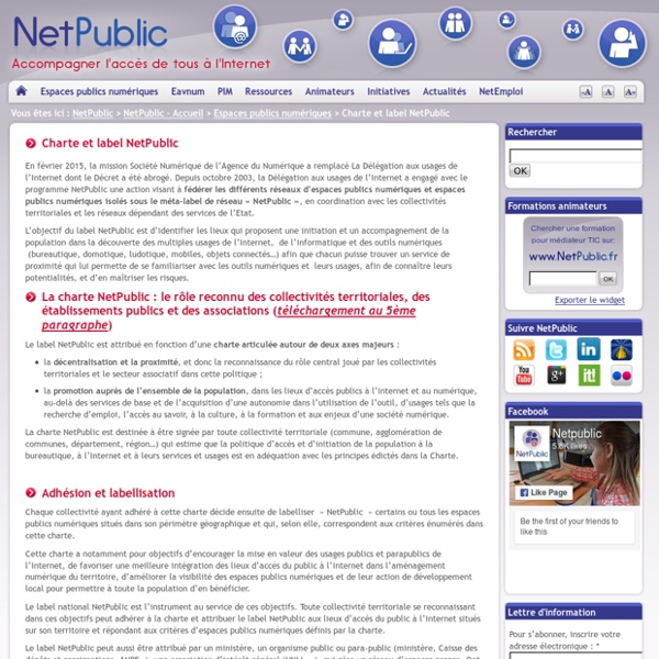 PIM : Charte et label NetPublic
