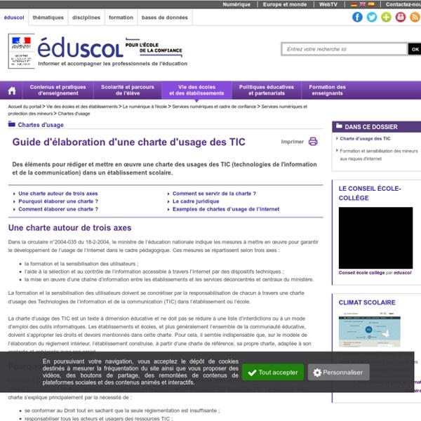 Chartes d'usage - Guide d'élaboration des chartes d'usage
