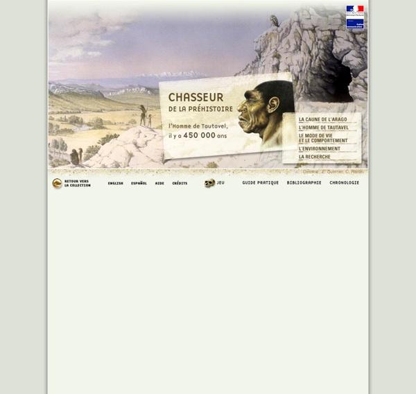 Chasseur de la Préhistoire. L'Homme de Tautavel il y a 450 000 ans.