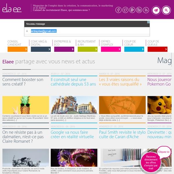 Blog recrutement et chasse de t?te communication, marketing et internet : ELAEE