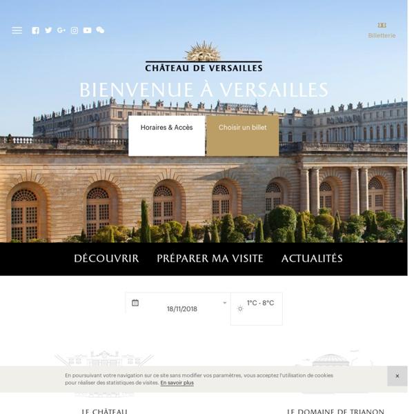 Site officiel du château de Versailles