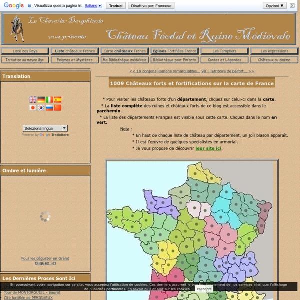 601 Châteaux forts et fortifications sur la carte de France