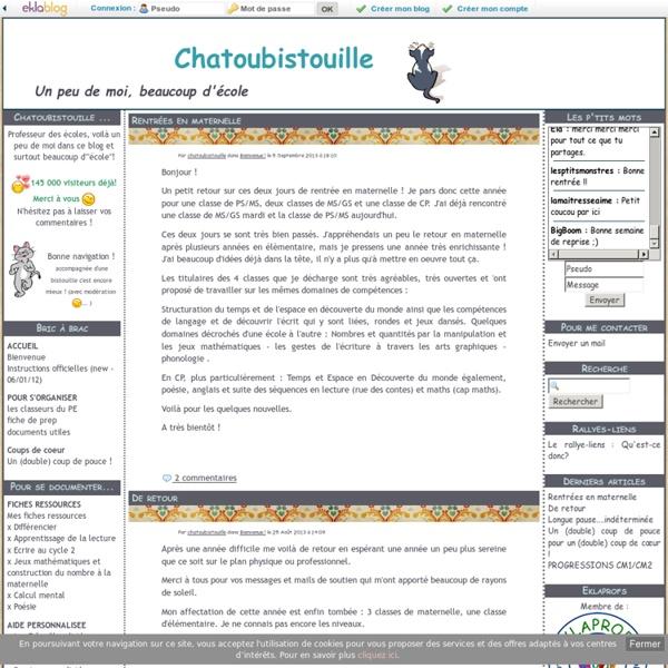 Chatoubistouille - Un peu de moi, beaucoup d'école