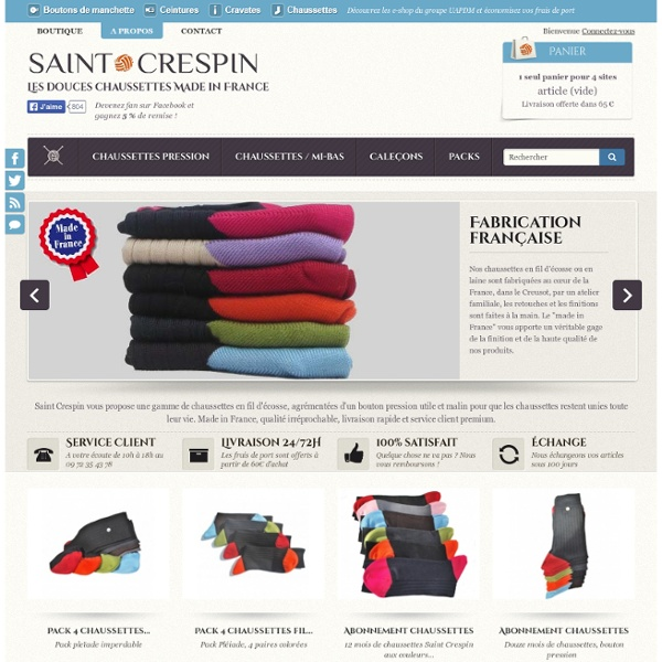 Saint Crespin : Chaussettes & Caleçons made in France