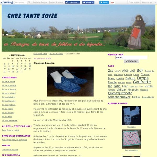 Chausson Bouéton - Chez Tante-Soize