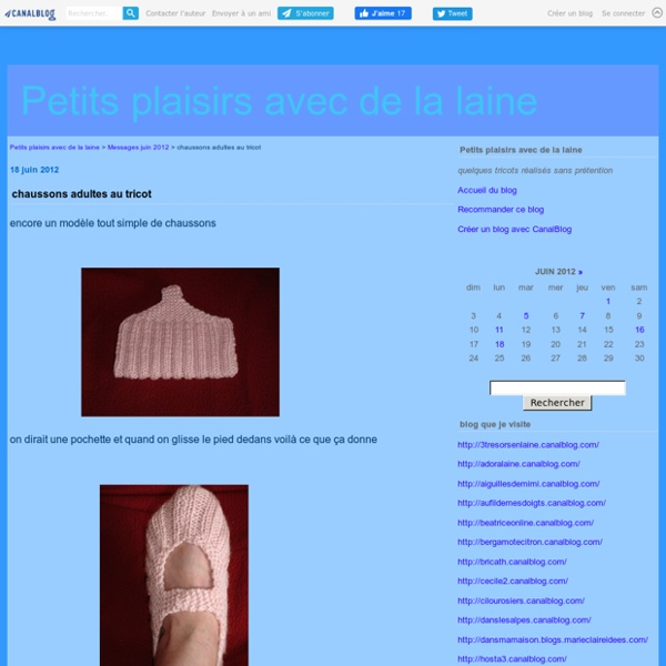 Chaussons adultes au tricot