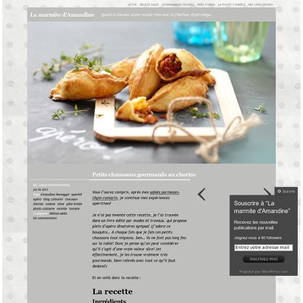 Petits chaussons gourmands au chorizo « La marmite d'Amandine