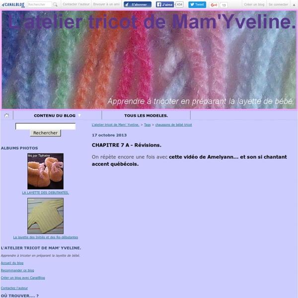 Chaussons de bébé tricot : Tous les messages sur chaussons de bébé tricot - L'atelier tricot de Mam' Yveline.