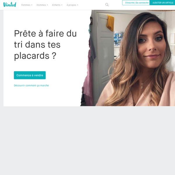 Vinted.fr, le vide-dressing pour acheter et vendre tes vêtements.