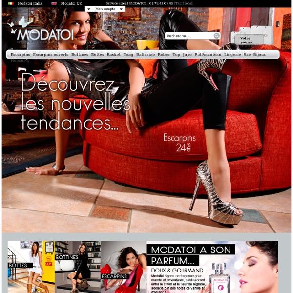 Chaussures pour femme : Modatoi – boutique vente en ligne chaussures femme