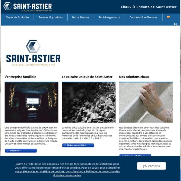 Chaux et Enduits de Saint-Astier : Bienvenue sur le site des chaux naturelles et enduits de Saint-Astier