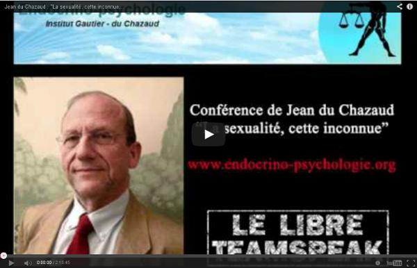 """Jean du Chazaud : """"La sexualité, cette inconnue"""" sur le LTS"""