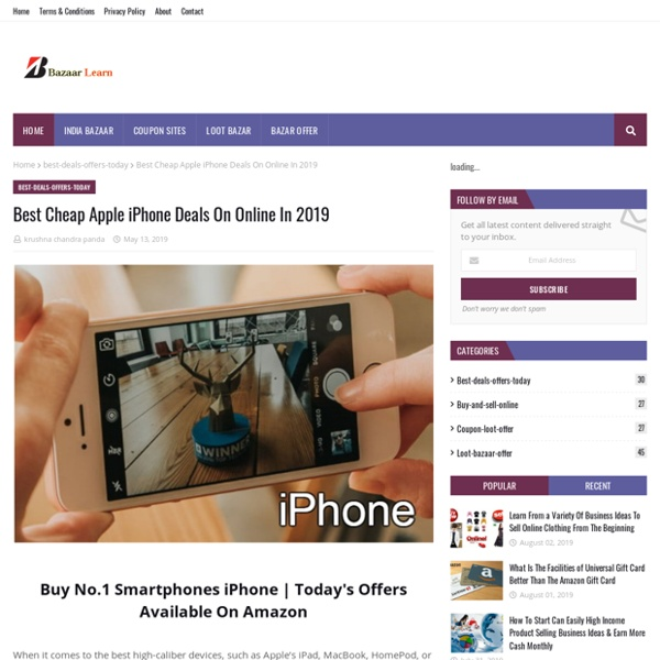Best Cheap Apple iPhone Deals On Online In 2019