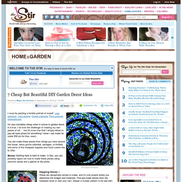 7 Cheap But Beautiful DIY Garden Decor Ideas