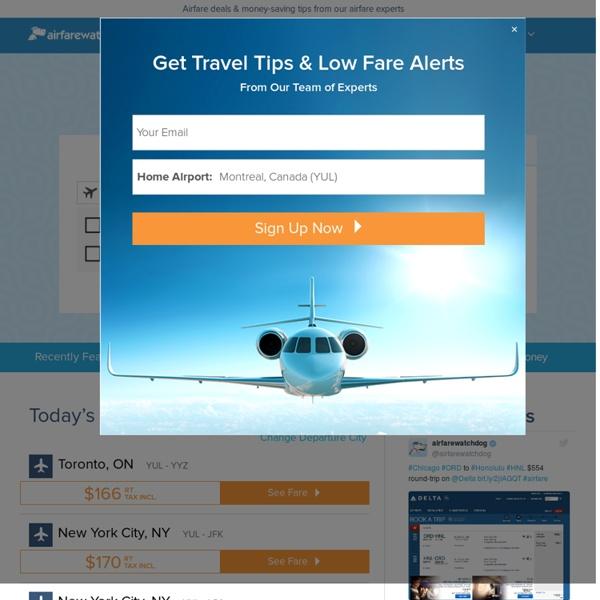 Airfare Deals - Cheap Flights