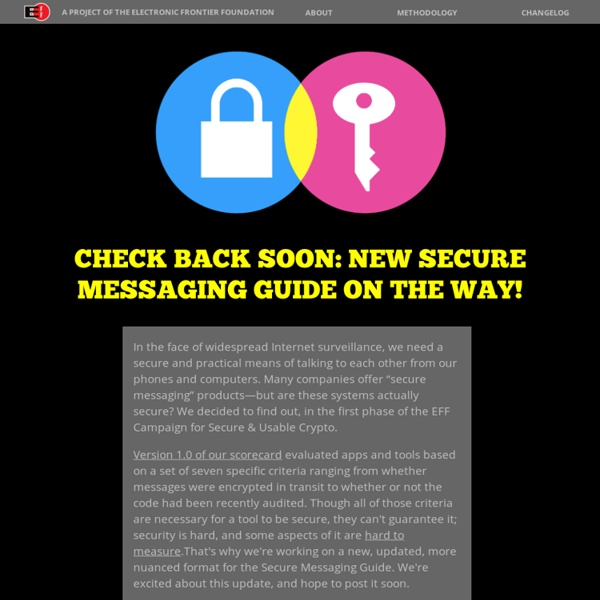 Check Back Soon: New Secure Messaging Guide On the Way!
