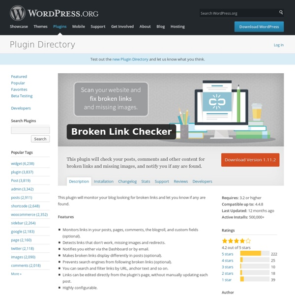 Broken Link Checker — WordPress Plugins
