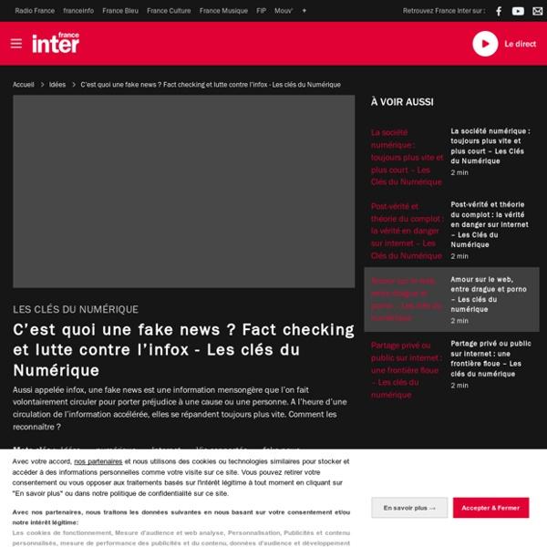 C'est quoi une fake news ? Fact checking et lutte contre l'infox - Les clés du Numérique