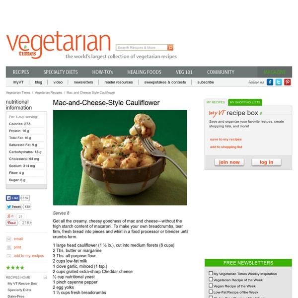 Mac-and-Cheese-Style Cauliflower Recipe