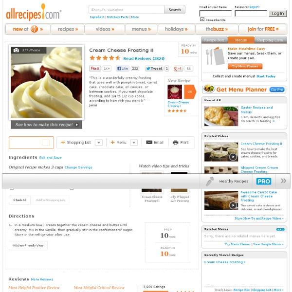 Cream Cheese Frosting II Recipe
