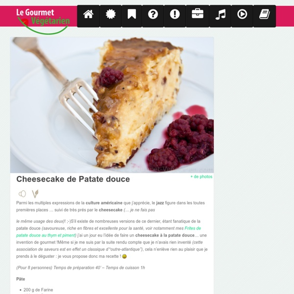 Cheesecake de Patate Douce