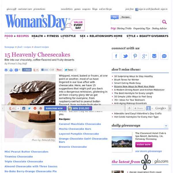 Cheesecake Recipes - Easy Cheesecake Recipes at WomansDay