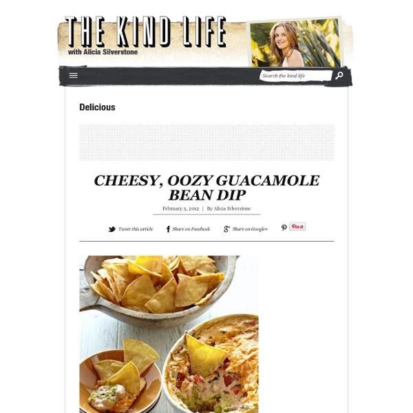 Cheesy, oozy guacamole bean dip