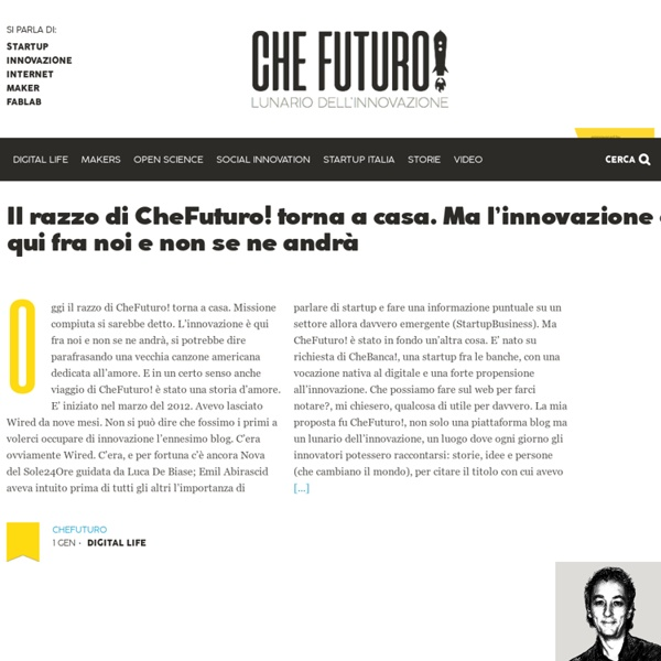 CheFuturo! Lunario dell'innovazione in Italia