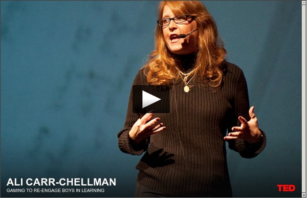 Ali Carr-Chellman: Gaming to re-engage boys in learning