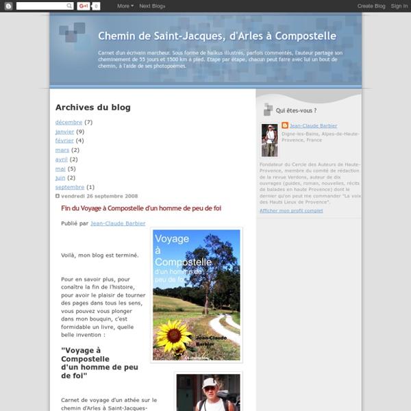Chemin de Saint-Jacques, d'Arles à Compostelle