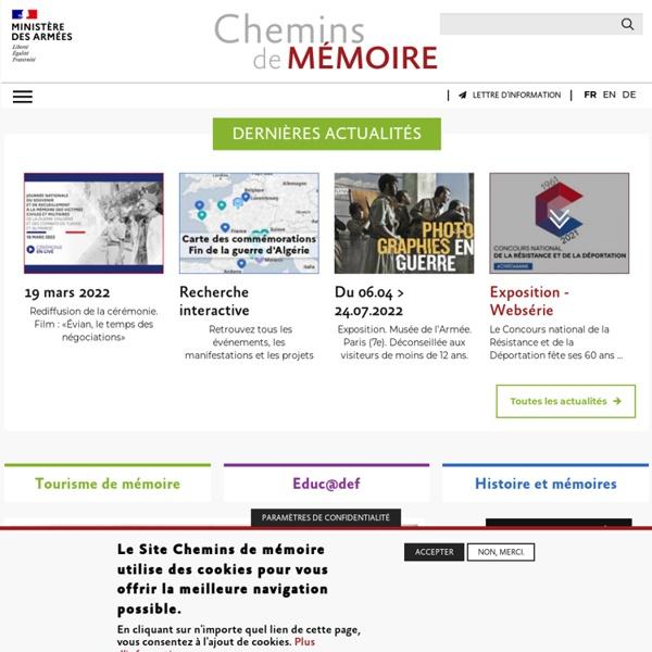 Chemins de Mémoire - Ministère de la Défense - Ministère de la Défense
