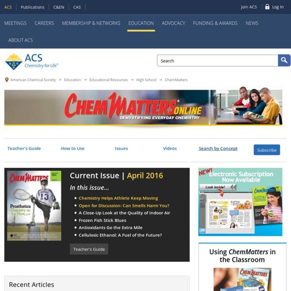 ChemMatters Magazine