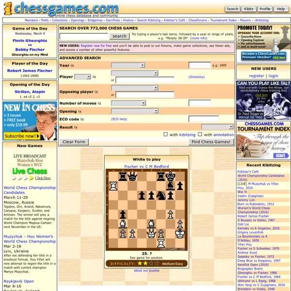 Chess Games Database & Community